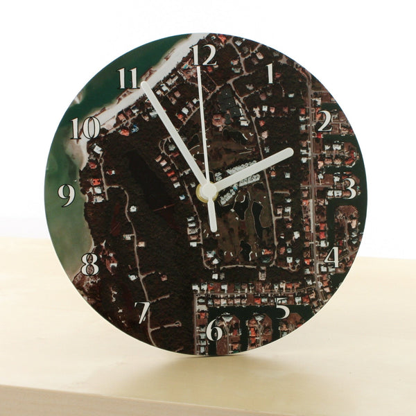 Clock - German Aerial Photo Clock - Centred On Your Home German Aerial Photo Clock - Centred on Your Home