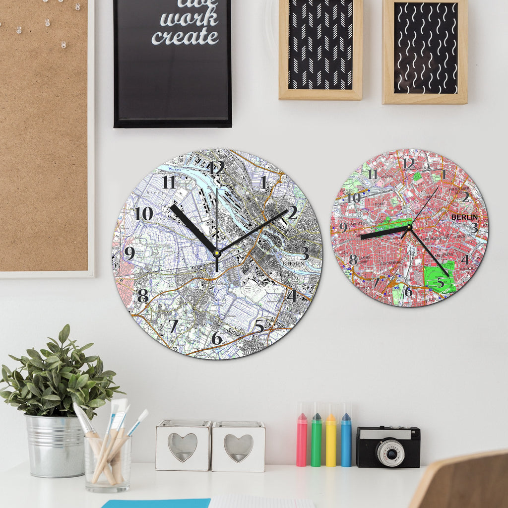 Clock - Personalised German Map Clock