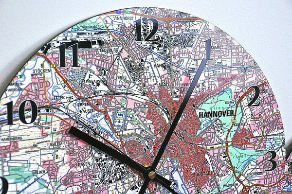 Clock - Personalised German Map Clock Personalised German Map Clock