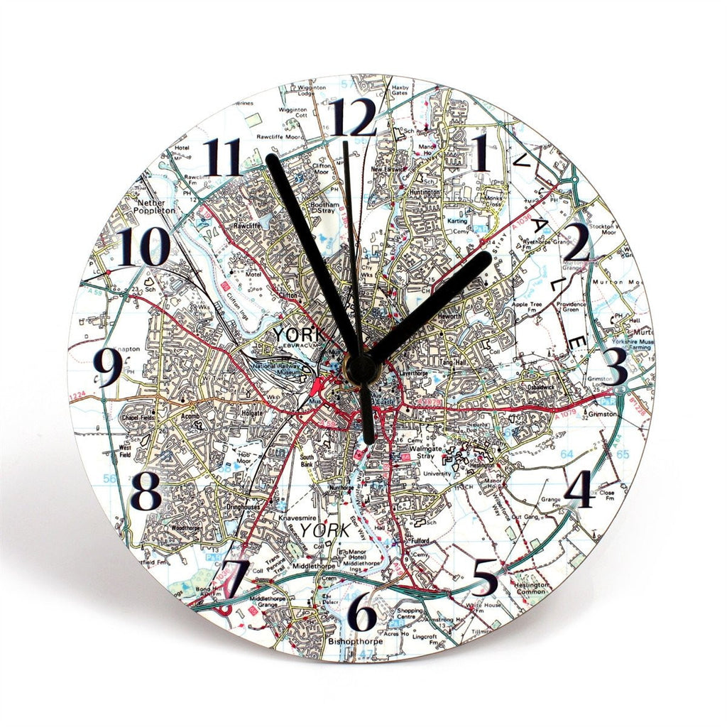 Clock - Personalised Map Clock