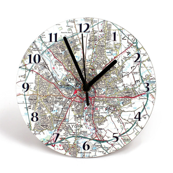 Clock - Personalised Map Clock Personalised Map Clock