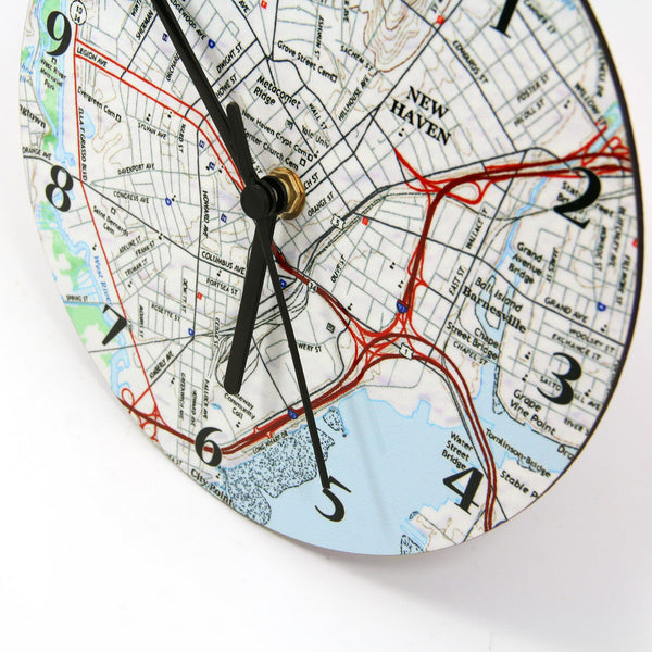 Clock - Wall Clock With Personalized Map - Any US Address Wall Clock with Personalized Map - Any US Address