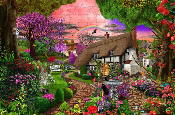 Cottage Garden Rainbow 300 Piece Wooden Jigsaw Puzzle