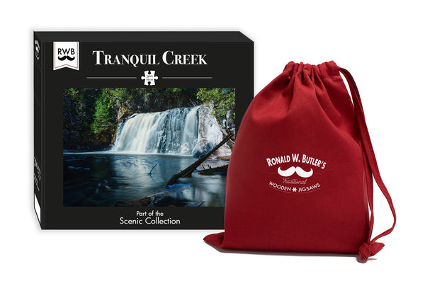Tranquil Creek - 300 Piece Wooden Jigsaw Puzzle Tranquil Creek - 300 Piece Wooden Jigsaw Puzzle