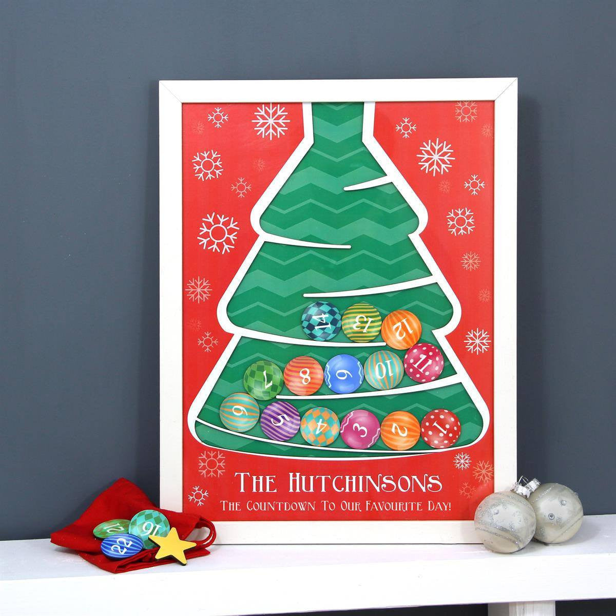 Personalised Wooden Christmas Tree Advent Calendar