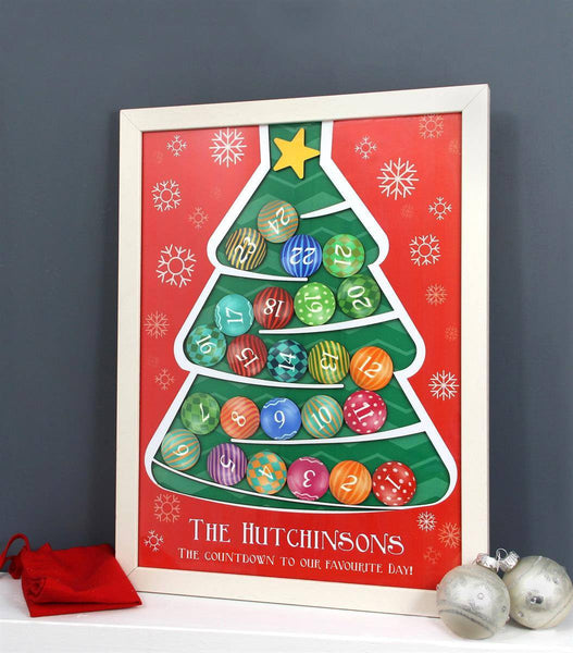 Drop Box - Personalised Wooden Christmas Tree Advent Calendar Personalised Wooden Christmas Tree Advent Calendar