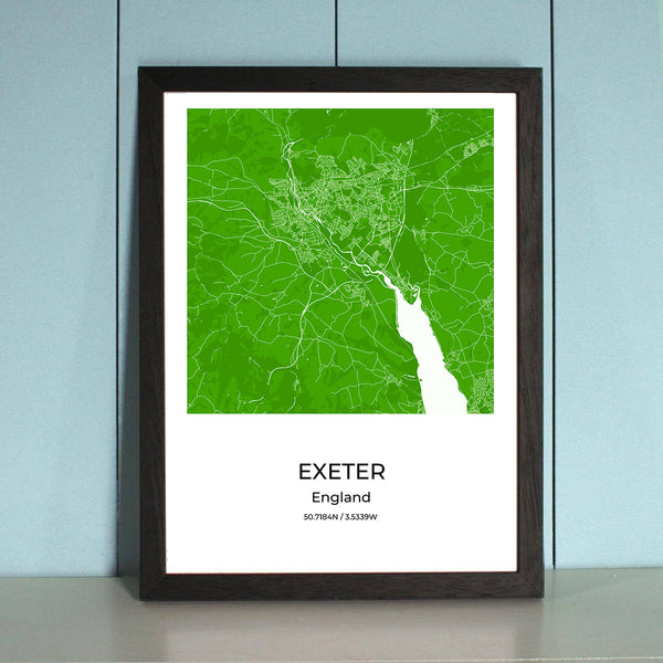 Exeter City Map Wall Art