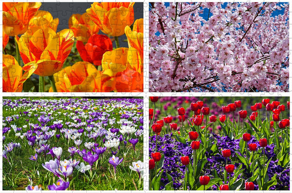 Flowers in Spring 300 Piece Wooden Jigsaw Puzzle Flowers in Spring 300 Piece Wooden Jigsaw Puzzle