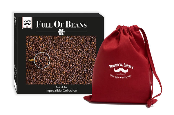 Full of Beans - Impuzzible - 300 Piece Wooden Jigsaw Puzzle Full of Beans - Impuzzible - 300 Piece Wooden Jigsaw Puzzle