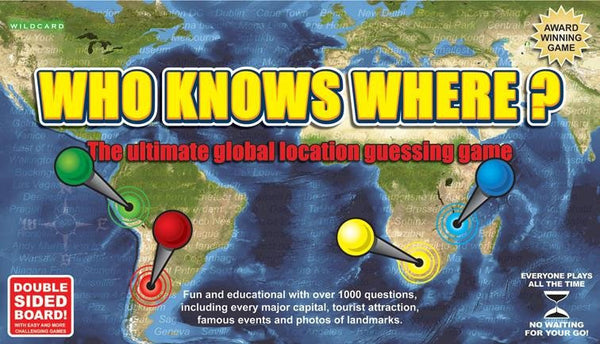 Games - Who Knows Where? – Global Location Guessing Board Game Who Knows Where? – Global Location Guessing Board Game