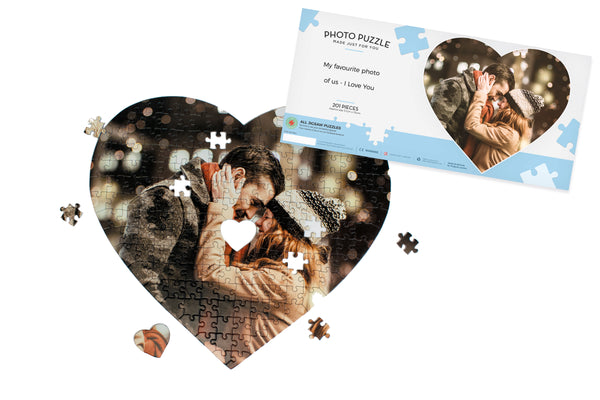 Personalised Heart Shaped Photo Jigsaw Puzzle