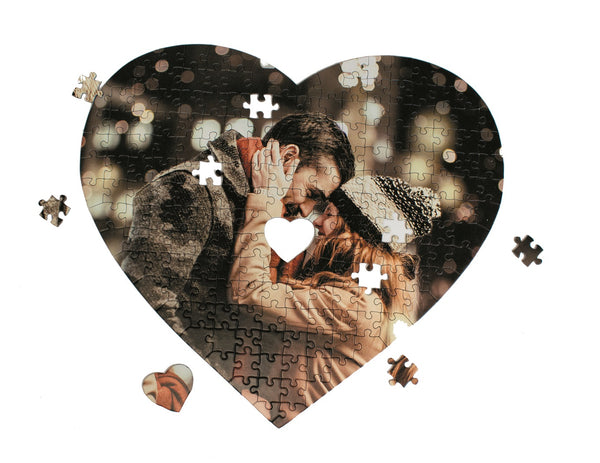 Personalised Heart Shaped Photo Jigsaw Puzzle Personalised Heart Shaped Photo Jigsaw Puzzle