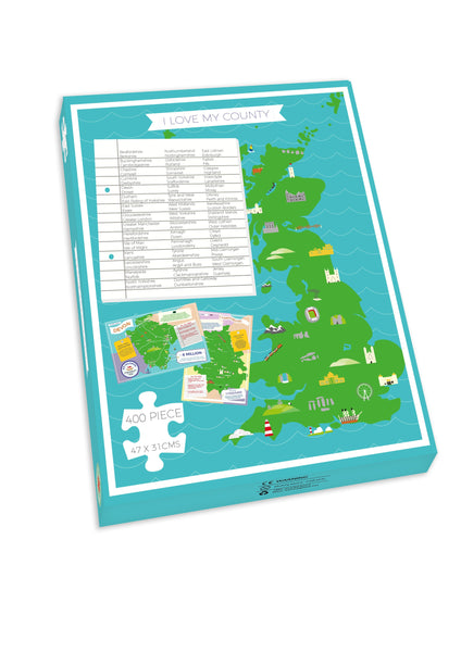 Greater Manchester - I Love My County 400 Piece Jigsaw Puzzle Greater Manchester - I Love My County 400 Piece Jigsaw Puzzle