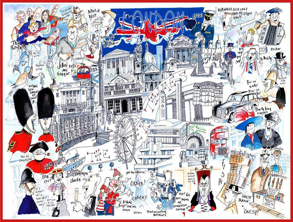 Jigsaw Puzzle - Comical Map Of London - Tim Bulmer 1000 Piece Jigsaw Puzzle