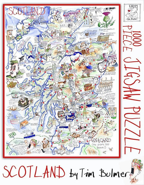 Jigsaw Puzzle - Comical Map Of Scotland - Tim Bulmer 1000 Piece Jigsaw Puzzle Comical Map of Scotland - Tim Bulmer 1000 Piece Jigsaw Puzzle