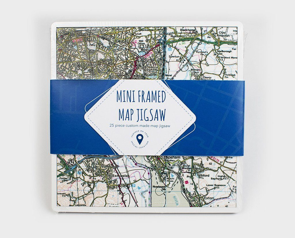 Jigsaw Puzzle - Mini Framed Map Jigsaw Puzzle