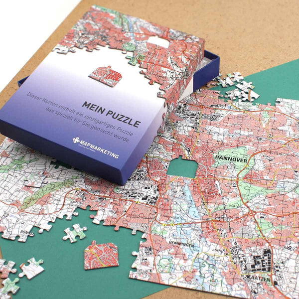 Jigsaw Puzzle - Personalised German Map Jigsaw Puzzle Personalised German Map Jigsaw Puzzle