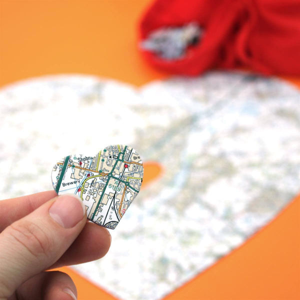 Jigsaw Puzzle - Personalised Heart-Shaped Map Jigsaw Puzzle Personalised Heart-Shaped Map Jigsaw Puzzle
