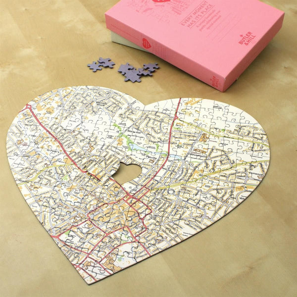 Personalised Heart-Shaped Map Jigsaw Puzzle Personalised Heart-Shaped Map Jigsaw Puzzle