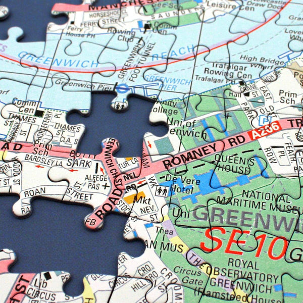 Jigsaw Puzzle - Personalised London Street Map Jigsaw
