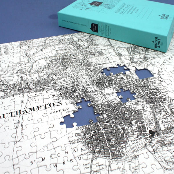 Jigsaw Puzzle - Personalised Victorian Map Jigsaw Puzzle