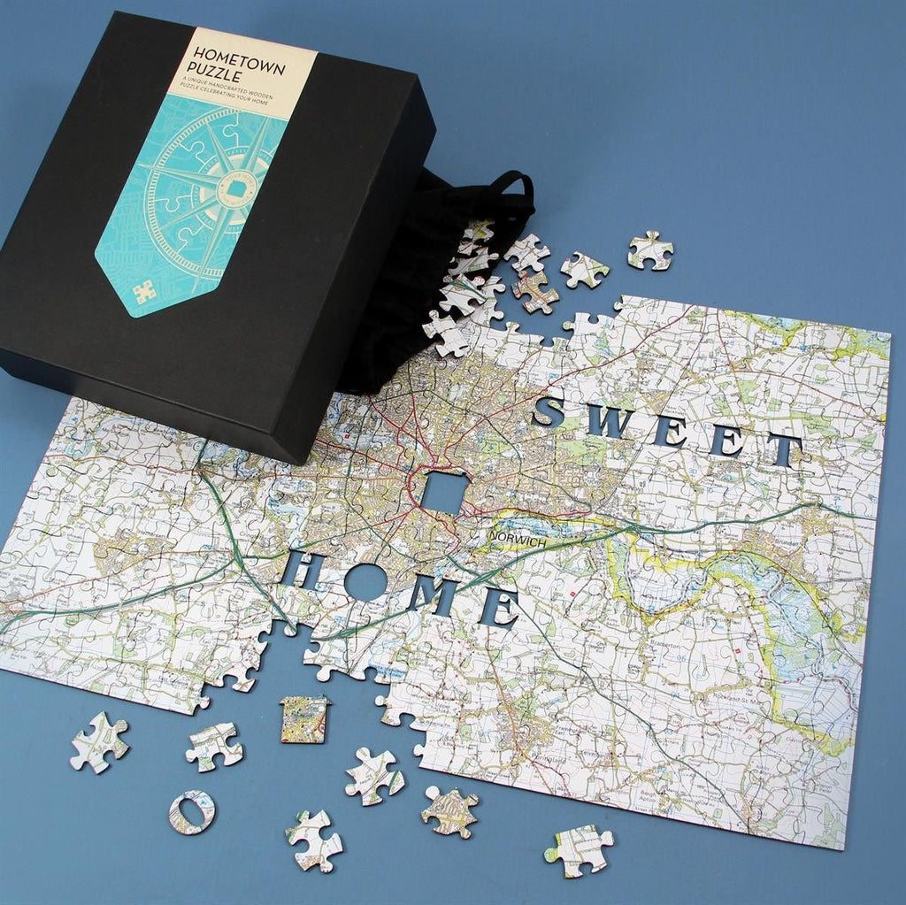Personalised Wooden Hometown Jigsaw Puzzle Butler and Hill UK