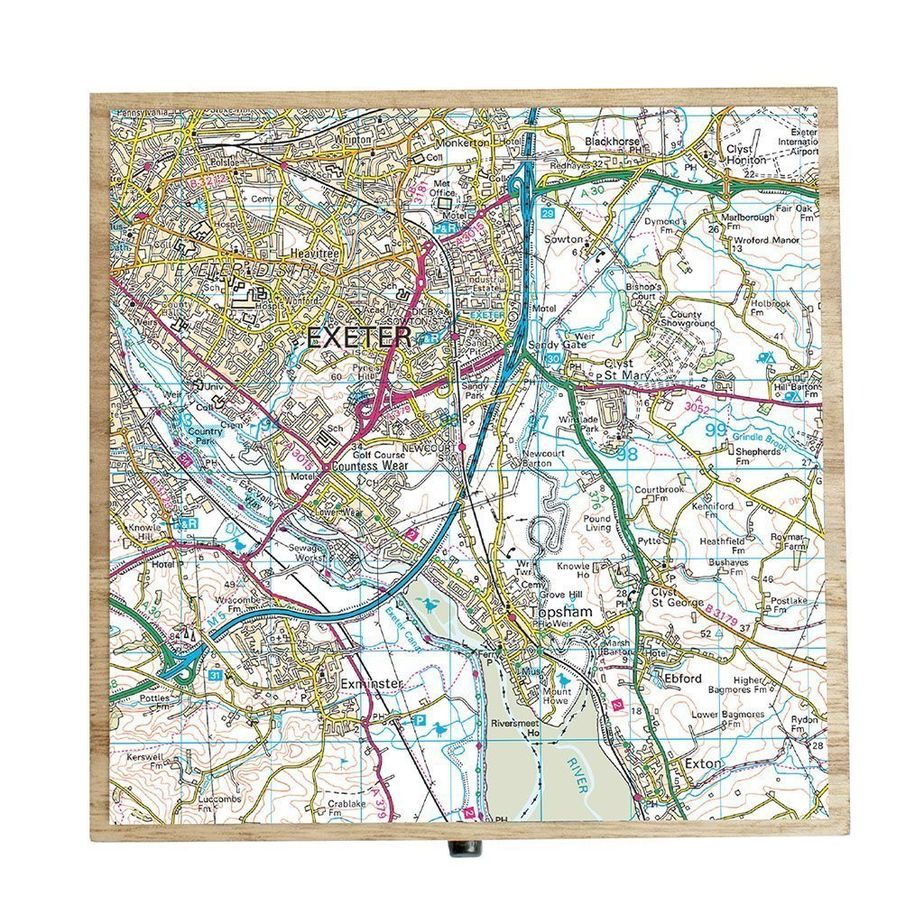 Keepsake Boxes - Personalised Map Keepsake Box