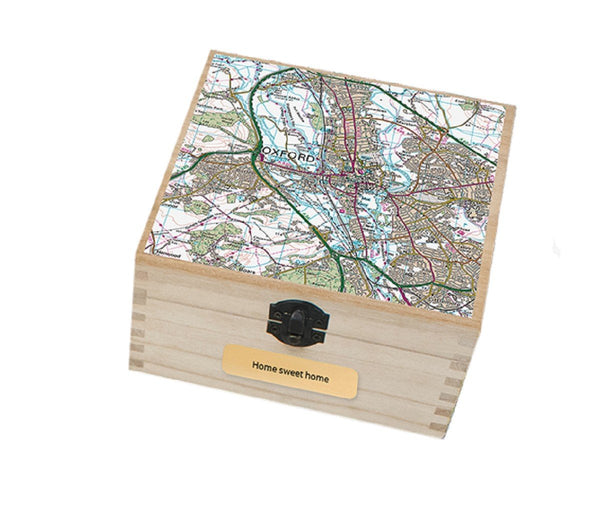 Keepsake Boxes - Personalised Map Keepsake Box Personalised Map Keepsake Box