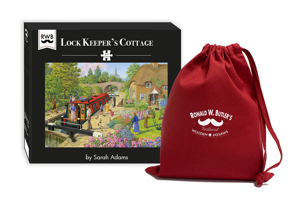 Lock Keeper's Cottage - Sarah Adams - 300 Piece Wooden Jigsaw Puzzle Lock Keeper's Cottage - Sarah Adams - 300 Piece Wooden Jigsaw Puzzle