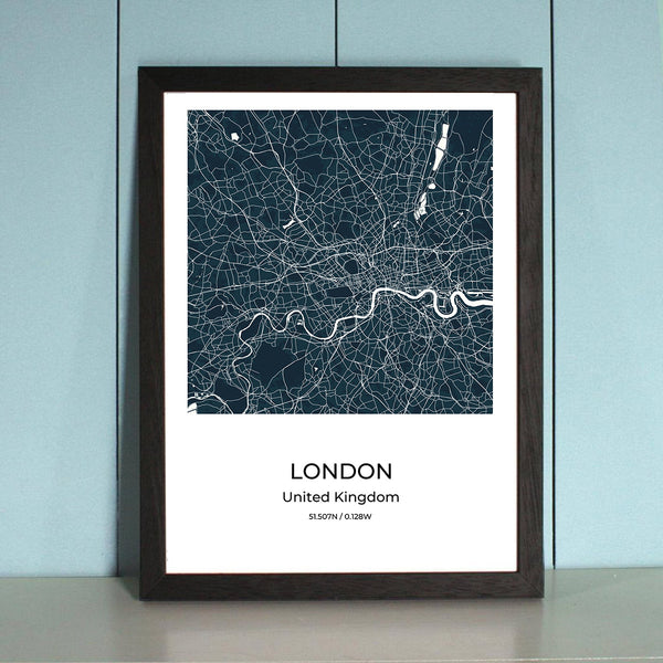 London City Map Wall Art