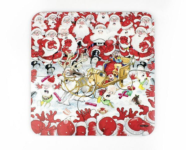 Map Gift - Christmas Jigsaw Coaster Set Christmas Jigsaw Coaster Set