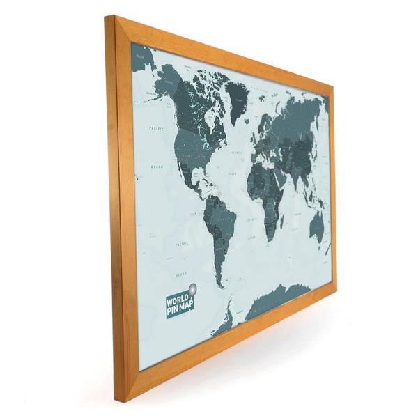 Map Gift - Framed World Map Pinboard Framed World Map Pinboard