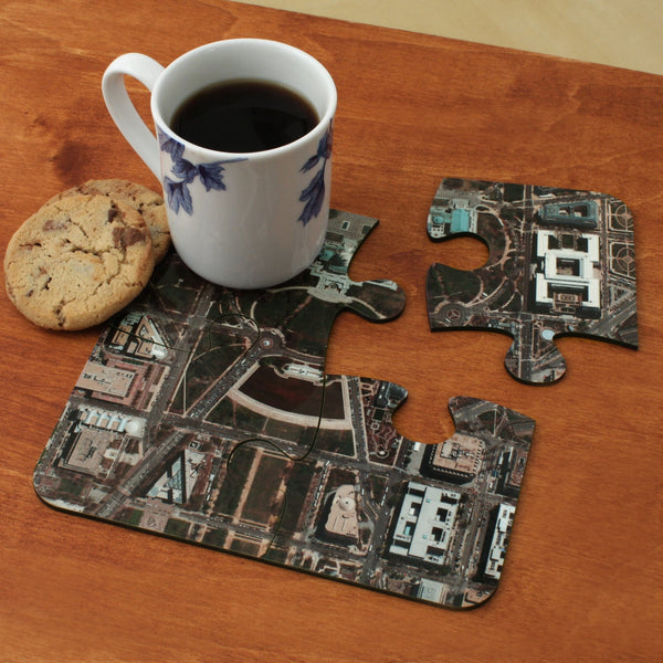 Map Gift - German Aerial Photo Jigsaw Coasters