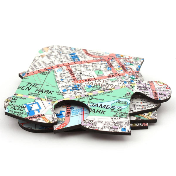 Map Gift - Map Jigsaw Coasters - Personalised On Your Location Map Jigsaw Coasters - Personalised on Your Location