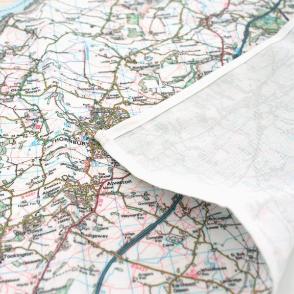 Map Gift - Map Napkins (Mapkins) Centred On Your Address (Set Of 4) Map Napkins (Mapkins) Centred on Your Address (Set of 4)