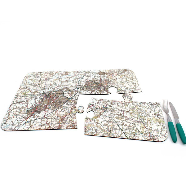 Map Gift - Personalised Map Jigsaw Placemats Personalised Map Jigsaw Placemats
