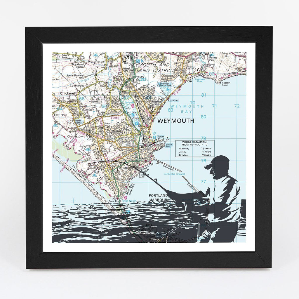 Map Gift - Personalised Sea Fishing Adventure Map