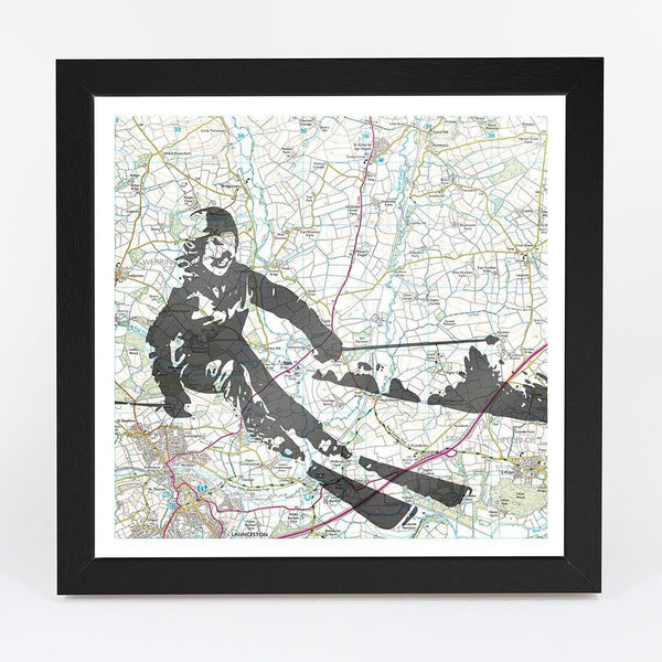 Map Gift - Personalised Skiing Adventure Map