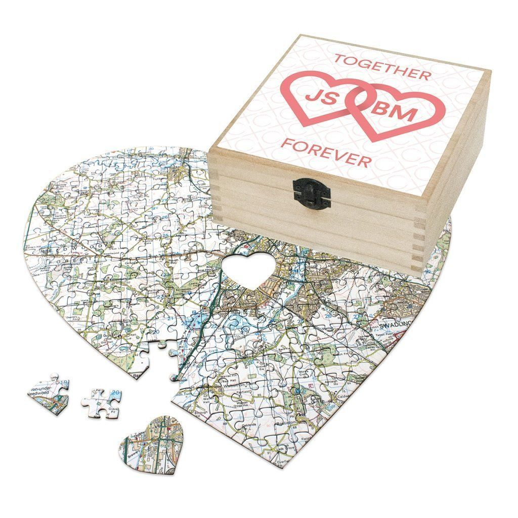 Map Gift - Personalised Valentine's Day Gift Set - Together Forever