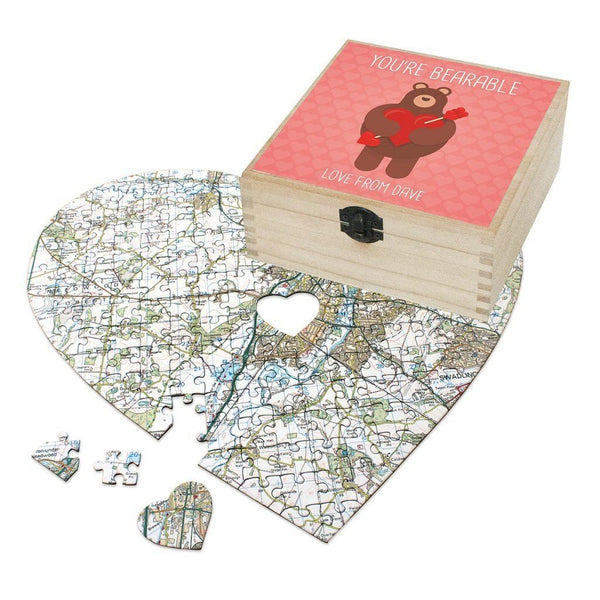 Map Gift - Personalised Valentine's Day Gift Set - You're Bearable Personalised Valentine's Day Gift Set - You're Bearable
