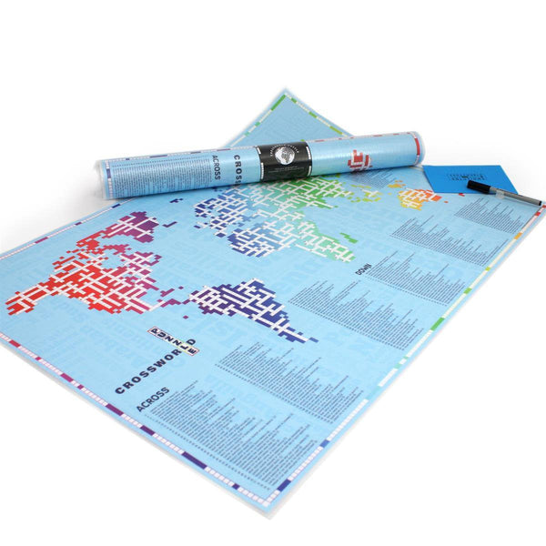 Map Gift - The Cross Word World Map - CrossWorld