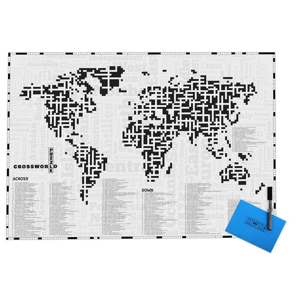 Map Gift - The Cross Word World Map - CrossWorld The Cross Word World Map - CrossWorld