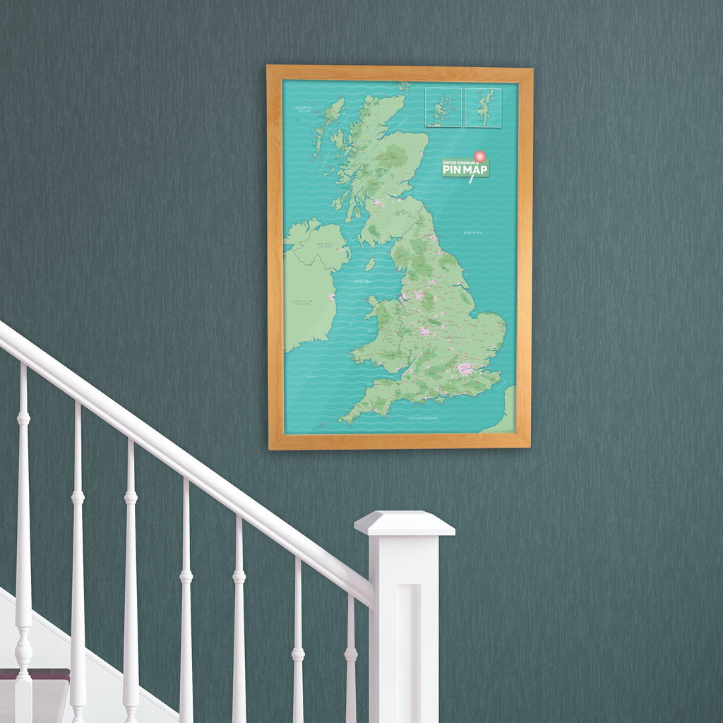 Uk pinboard map great britain and northern ireland choice of map gift uk pinboard map gumiabroncs