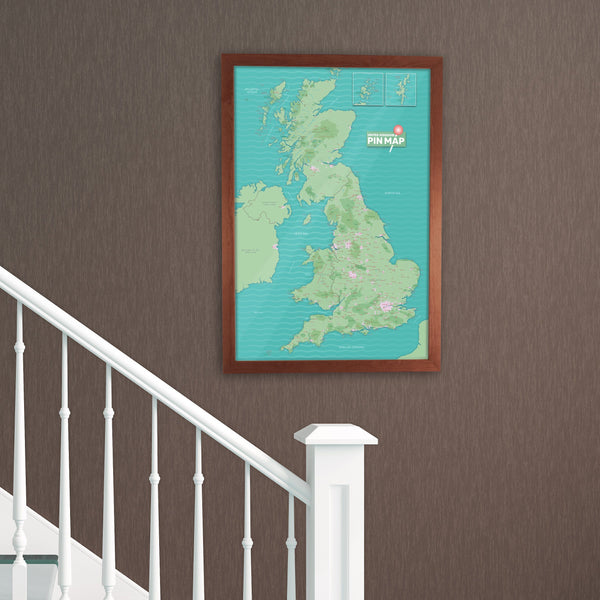 Map Gift - UK Pinboard Map UK Pinboard Map