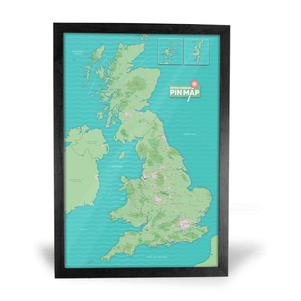 Uk pinboard map great britain and northern ireland choice of map gift uk pinboard map gumiabroncs Images