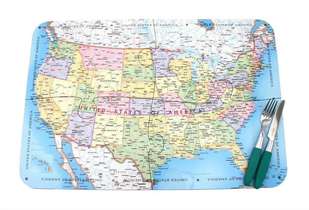 Map Gift - USA Map Puzzle Placemats