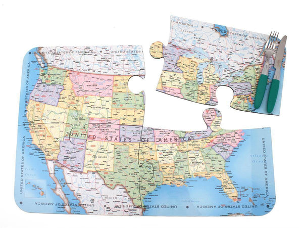 Map Gift - USA Map Puzzle Placemats USA Map Puzzle Placemats