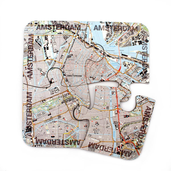 Map Gift - World City Map Jigsaw Coasters World City Map Jigsaw Coasters