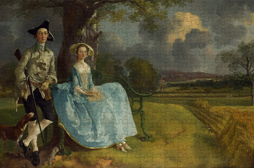 Mr and Mrs Andrews - Thomas Gainsborough - 300 Piece Wooden Jigsaw Puzzle