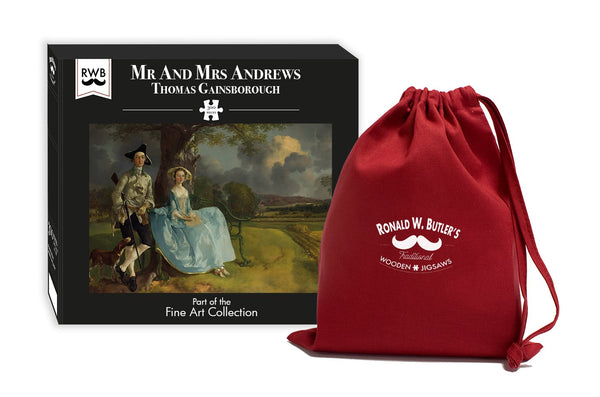Mr and Mrs Andrews - Thomas Gainsborough - 300 Piece Wooden Jigsaw Puzzle Mr and Mrs Andrews - Thomas Gainsborough - 300 Piece Wooden Jigsaw Puzzle